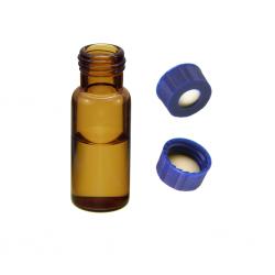 Vial Kit: 2ml Amber, Screw Top BASIK™ Vials & BASIK™ Screw Caps w/non-slit Septa, 100/PK