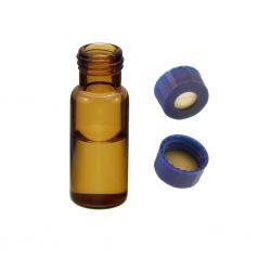 Vial Kit: 2ml Amber, Screw Top BASIK™ Vials & BASIK™ Screw Caps w/pre-slit Septa, 100/PK