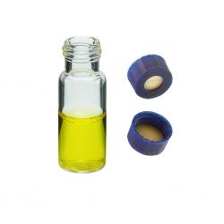 Vial Kit: 2ml Clear, Screw Top BASIK™ Vials & BASIK™ Screw Caps w/pre-slit Septa, 100/PK