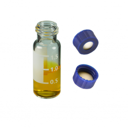 Vial Kit: 2ml Clear, Screw Top BASIK™  Vials w/write-on Patch & BASIK™ Screw Caps w/non-slit Septa, 100/PK