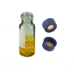 Vial Kit: 2ml Clear, Screw Top, BASIK™ Vials w/write-on Patch & BASIK™ Screw Caps w/pre-slit Septa, 100/PK