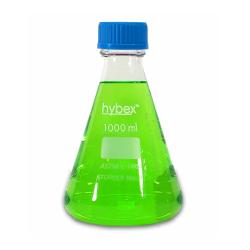 Erlenmeyer Flasks: 1L Clear Glass, Screw Top & 45mm, Solid Cap, 6/PK.