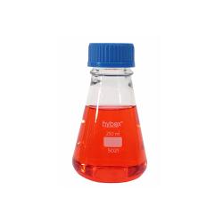 Erlenmeyer Flasks: 250mL Clear Glass, Screw Top & 45mm, Solid Cap, 12/CS