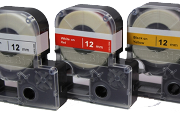 Individual Cassette Lap tape for LABeler™ 12mm Clear with Black print 1/EA