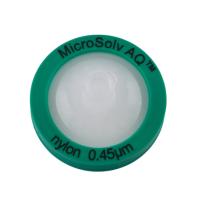 Nylon Syringe Filters, 0.45um, 25mm, AQ™ Pharma Grade. 1,000/CS