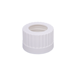 "Open Top Solvent Bottle Cap, 38-430mm w/ 3x 1/8"" HB Adapter, 4/CS"