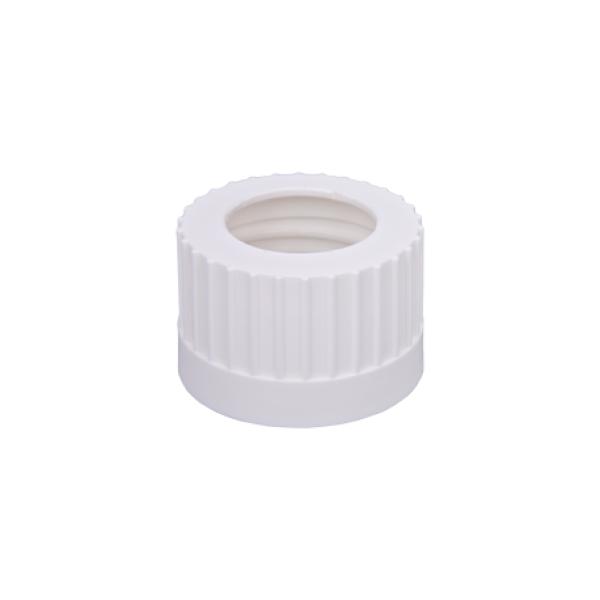 """Open Top Solvent Bottle Cap, 38-430mm w/ 3x 1/8"""" HB Adapter, 4/CS"""