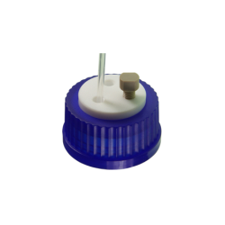 Cap: Screw Thread, GL-45, w/PTFE insert, Blue, 1/EA