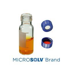 Vial Kit: 2ml Clear Screw Top, MicroSolv™ Vials w/write-on Patch & Soft-Guard™ Screw Caps w/Non-Slit Septa, 1/PK