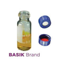 Vial Kit: 2ml Clear, Screw Top BASIK™ Vials & Soft-Guard™ Screw Caps w/non-slit Septa, 100/PK