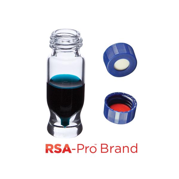 Vial Kit: 1.2ml Clear Screw Top, RSA-Pro MRQ Vials & Soft-Guard Screw Caps w/non-slit Septa, 100/PK