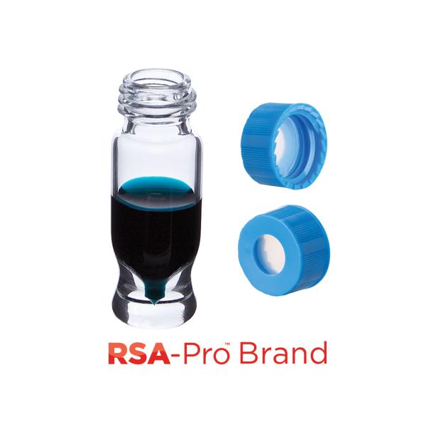 Vial Kit: 1.2ml Clear Screw Top, RSA-Pro MRQ Vials & AQR Screw Caps w/non-slit Septa, 100/PK