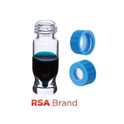 Vial Kit: 1.2ml Clear Screw Top, RSA MRQ Vials & AQR Screw Caps w/non-slit Septa, 100/PK