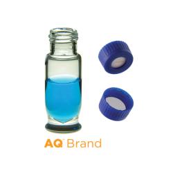 Vial Kit: 1.8ml Clear, Screw Top, AQ Max Recovery Vials & AQ Screw Caps w/pre-slit Septa, 100/PK