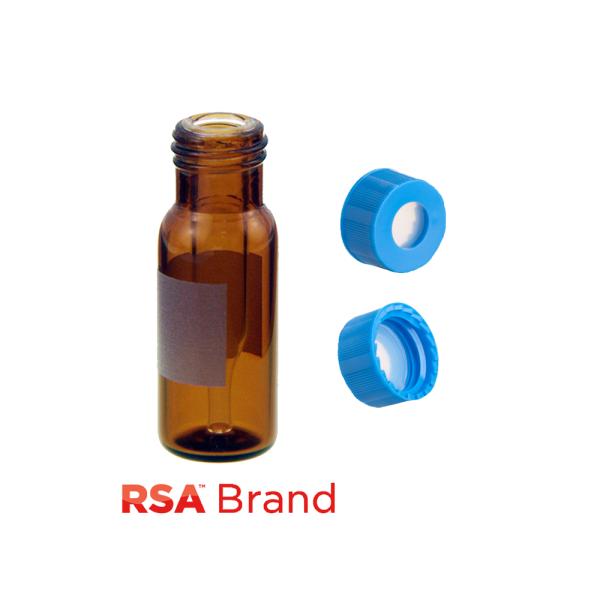 Vial Kit: 300ul, Fused Insert, Amber w/Write-on,  Screw Top, RSA Vials & AQR Screw Caps w/non-slit Septa, 100/PK