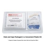 Vial Kit: 300ul, Fused Insert, Clear w/Write-on,  Screw Top, RSA Vials & Soft-Guard Screw Caps w/non-slit Septa, 100/PK