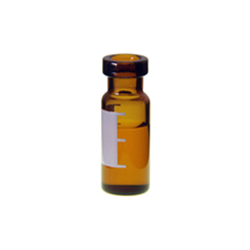 Vials: Autosampler, 2ml, Crimp Top, 11mm, Amber with Write On Patch. BASIK Brand, 100/PK