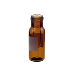 Vials with Fused Inserts, 300ul, 12x32mm, Screw Top, Amber, Write-on, RSA™ Brand. 100/PK
