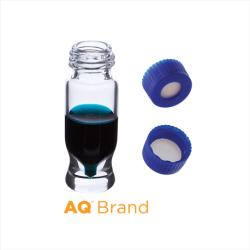 Vial Kit: 1.2ml Clear Screw Top, AQ MRQ Vials & AQ Screw Caps w/non-slit Septa, 100/PK
