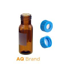 Vial Kit: 300ul, Fused Insert, Amber w/Write-on,  Screw Top, AQ Vials & AQR Screw Caps w/non-slit Septa, 100/PK