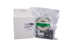 Individual Cassette Lab tape for LABeler™ 12mm Green with White print 1/EA