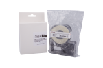 Individual Cassette ULT Lab tape for LABeler™ 12mm White with Black print 1/EA