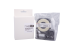 Individual Cassette Lab tape for LABeler™ 12mm White with Black print 1/EA