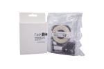 Individual Cassette Lab tape for LABeler™ 6mm Clear with Black print 1/EA