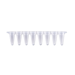 qPCR Tubes, 0.1mL in a strip of 8, Optical Stip Caps, Natural. 120/PK