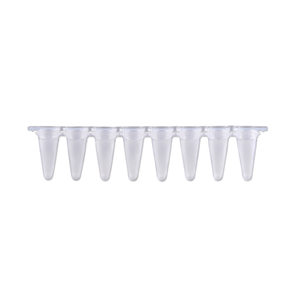 qPCR Tubes, 0.1mL in a strip of 8, Optical Stip Caps, Frosted. 120/PK