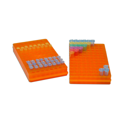 Reversible Rack for 96x1.5ml or 96x0.5ml MicroTubes, Orange, 5/PK