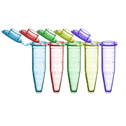 SureSeal S™ Microcentrifuge 1.5ml Tubes, Assorted Colors, 500/CS